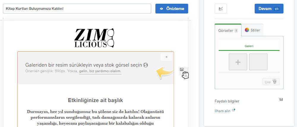 godaddy e-posta pazarlama düzenleme ekranı