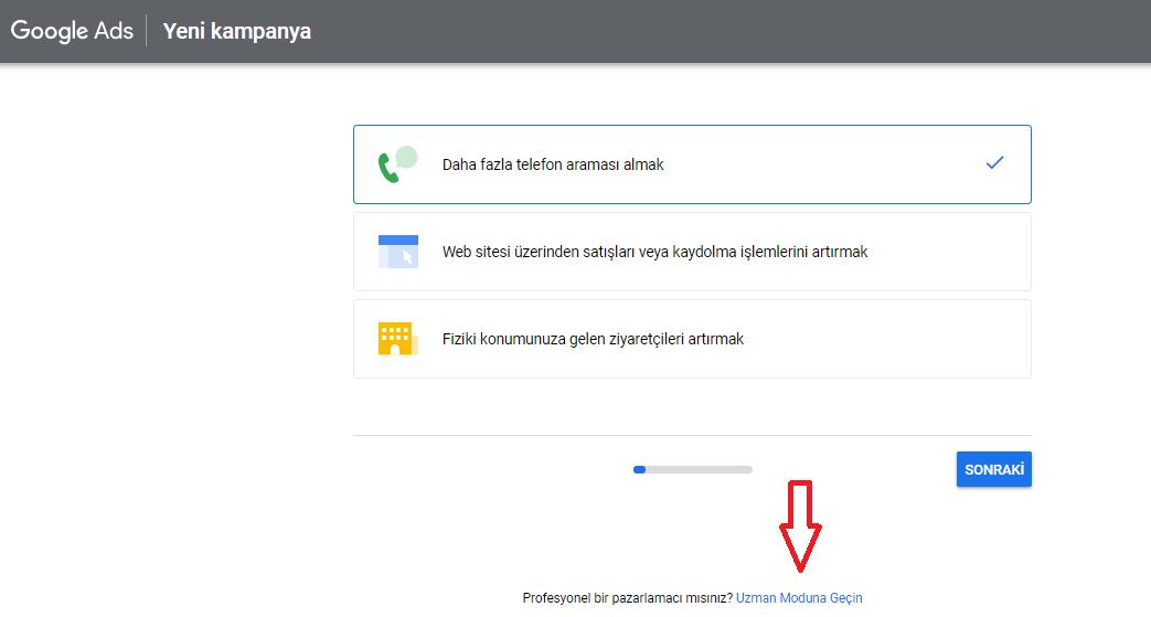 Google anahtar kelime planlayıcı reklam hedefleri
