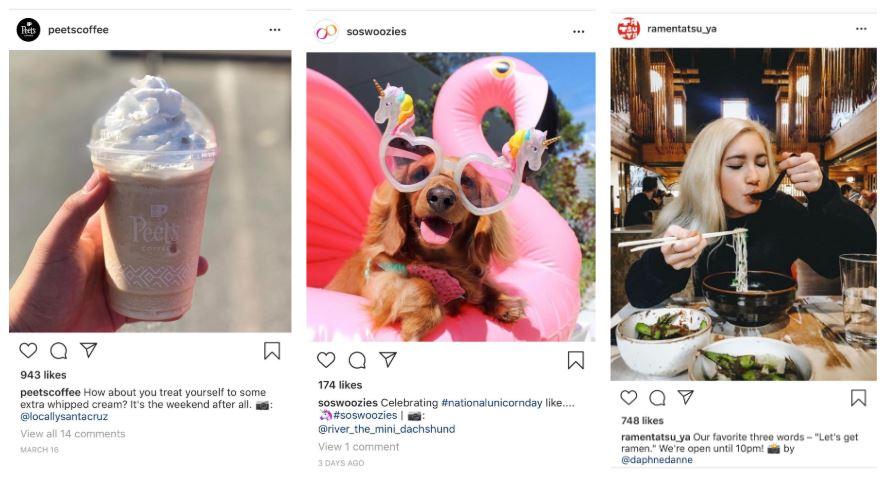 instagram profili yerel işletme örnekleri