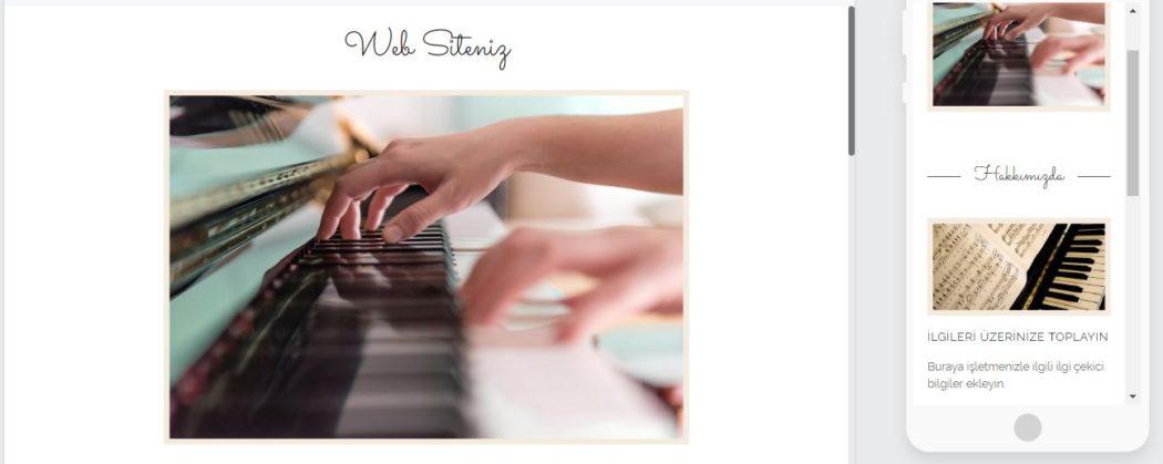 öğretmen sitesi web sitesi mimarı şablon piyano