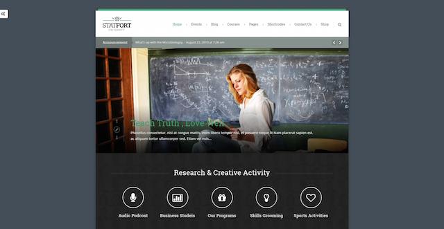 öğretmen sitesi yönetilebilir wordpress eğitim teması