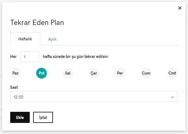 godaddy hazır web sitesi randevular ve hizmetler tekrar eden plan
