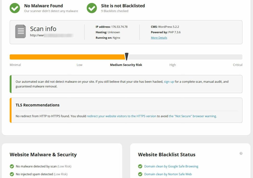 siber güvenlik sucuri sitecheck