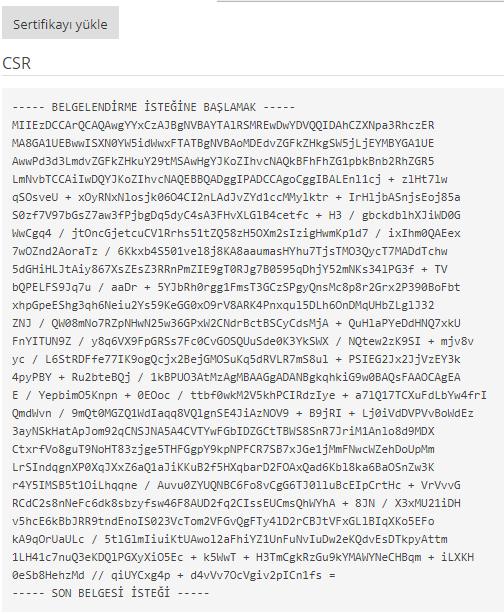 plesk CSR kodu