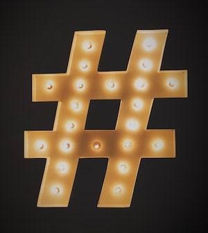 tiktok hashtag işareti