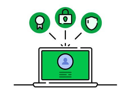 ücretsiz ssl koruma güvenlik illüstrasyon