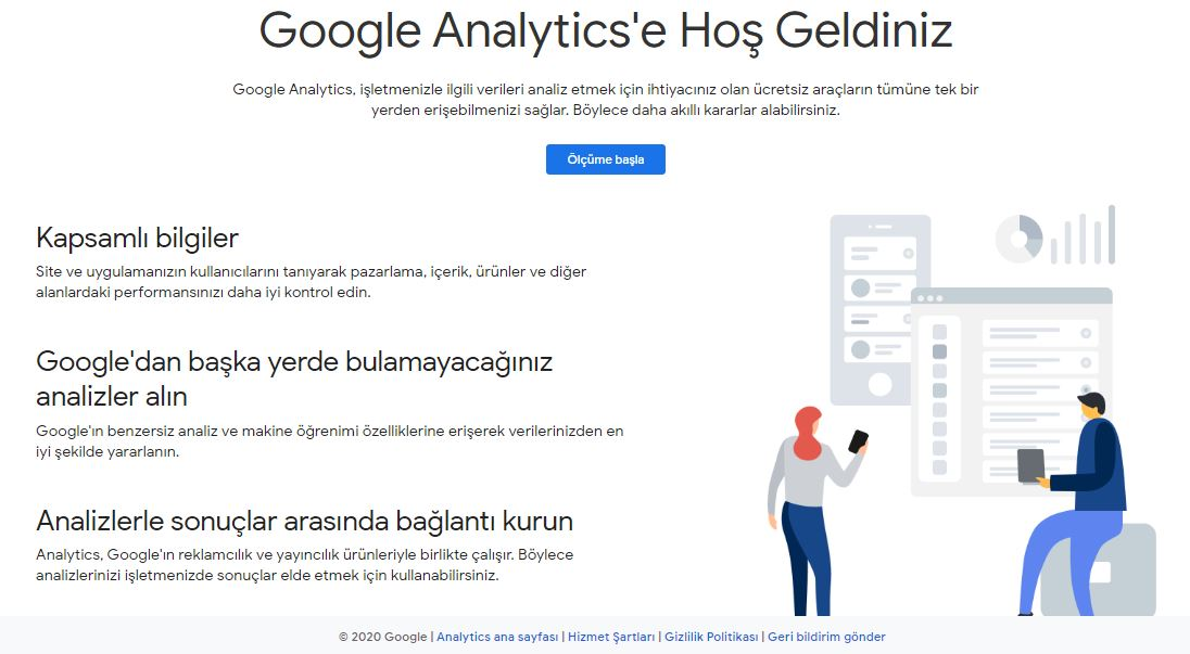 wordpress google analytics anasayfa