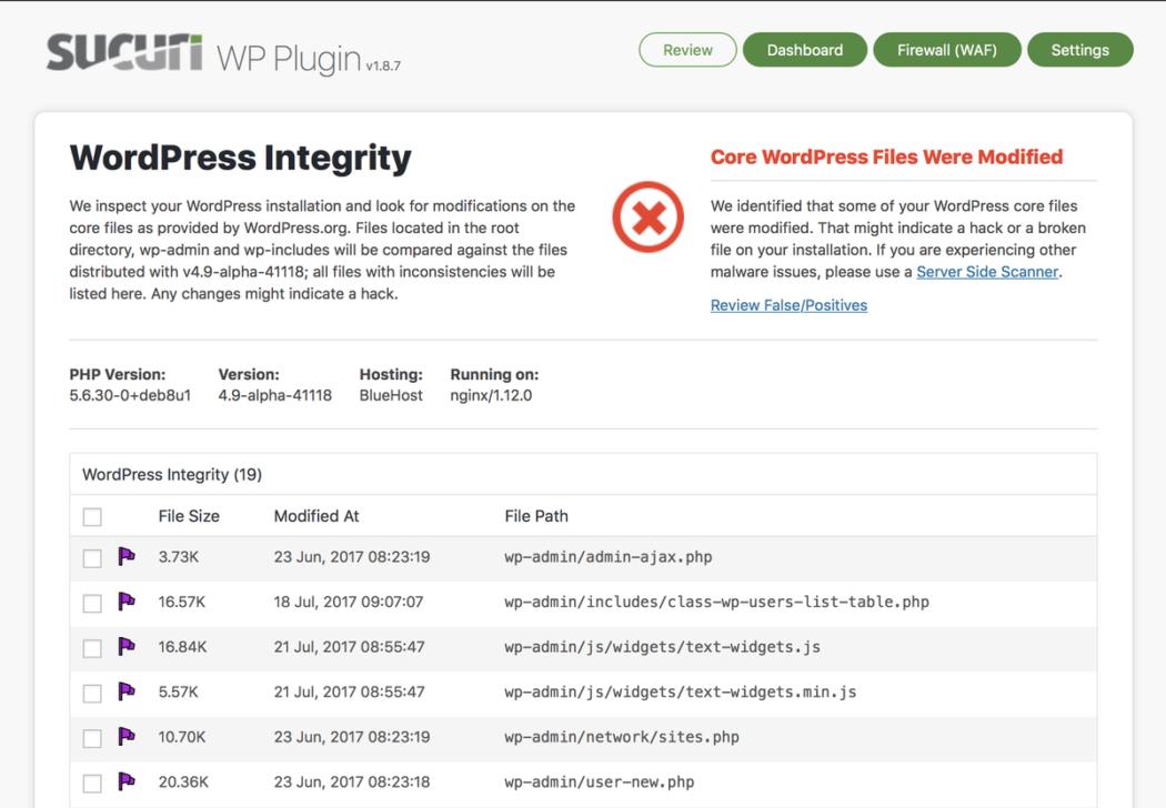 WordPress güvenliği sucuri
