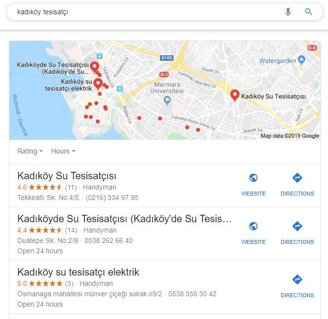yerel seo Kadıköy tesisatçı araması