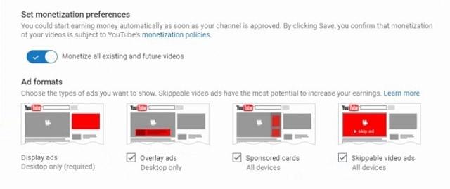 YouTube'dan nasıl para kazanılır seçenekler