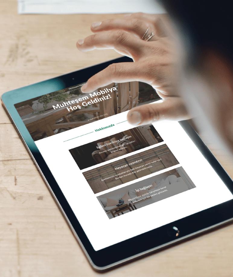 GoDaddy Yeni Web Sitesi Mimari Mobil