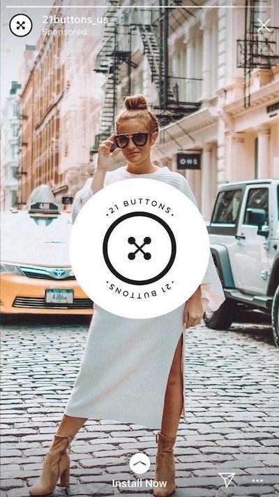 Instagram sponsorlu reklam 21 buttons