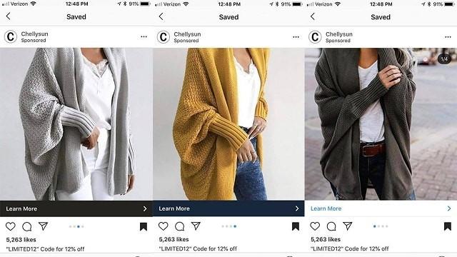 Instagram sponsorlu reklam chellysun hırka