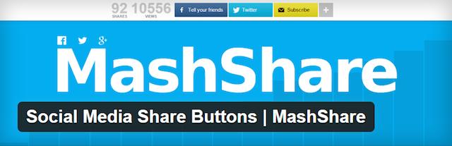 Bir WordPress Blogu kurmak MashShare Eklentisi