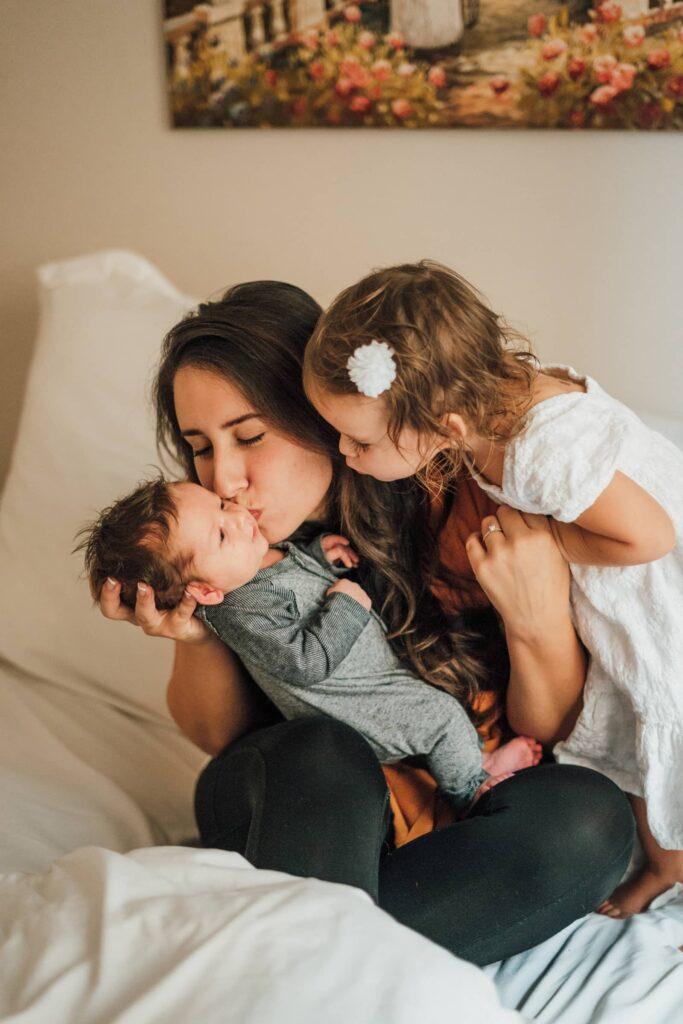 Anneler Günü için hediye anne ve çocuklar
