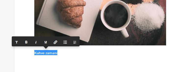 blog açma wsb biçimlendirme araçları