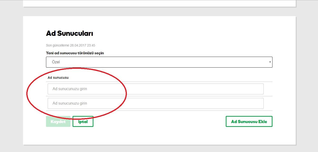 domain yönlendirme godaddy hesabı dns yönetimi ad sunucusu özel