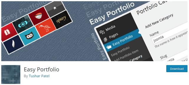 WordPress portfolyo eklentisi Easy Portfolio