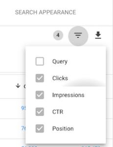 anahtar kelime google search console filtresi
