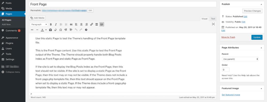 Gutenberg klasik WordPress editörü görünümü