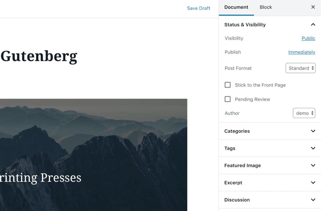 Gutenberg meta kutuları WordPress açılır menü