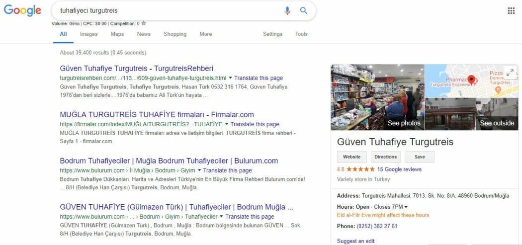 güven tuhafiye google araması