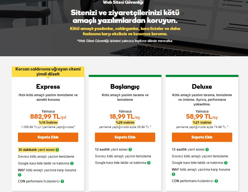 güvenlik duvarı Sucuri web sitesi güvenliği