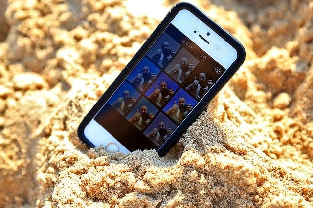 Instagram hikayeleri filtreler cep telefonu kum