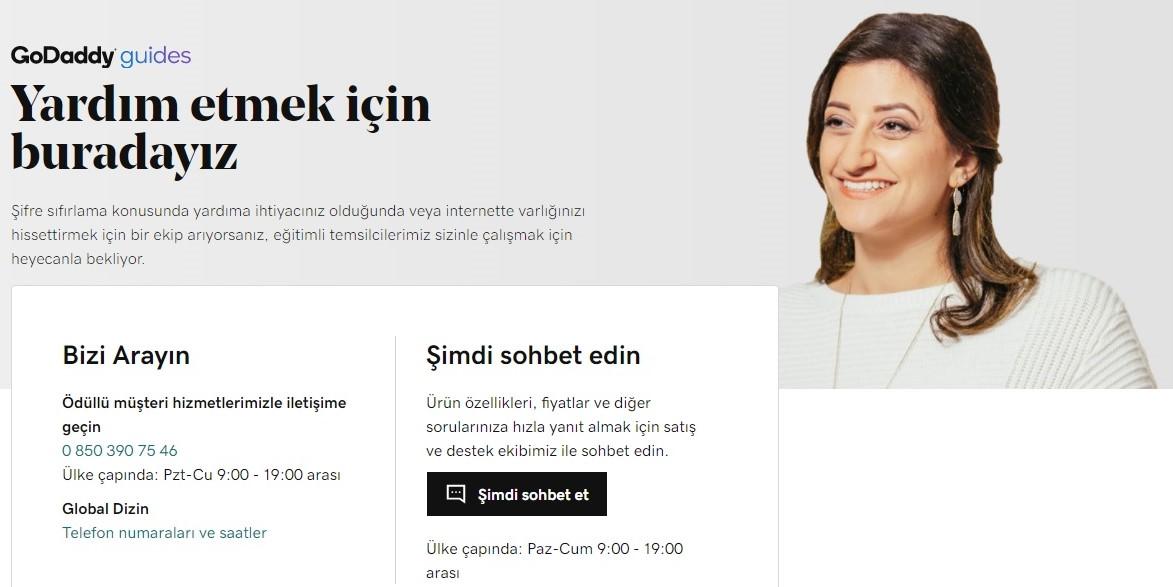 internet sitesi kurmak godaddy yardım sayfası