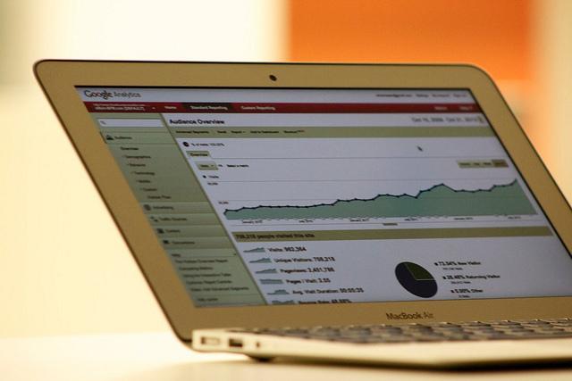 internette satış Google analytics laptop