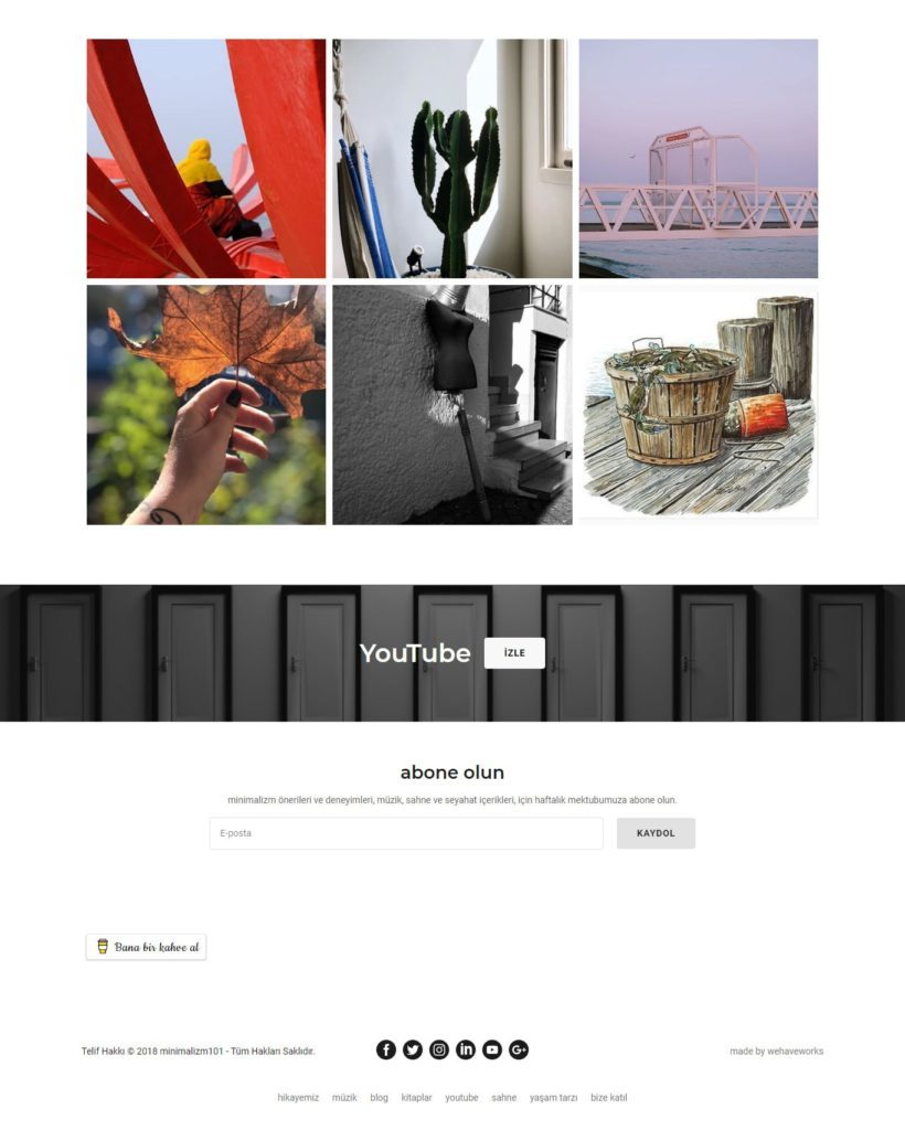 minimalizm minimalizm101 com web sitesi ana sayfa