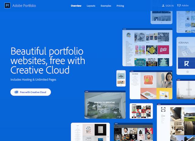 online portfolyo hazırlama adobe portfolio