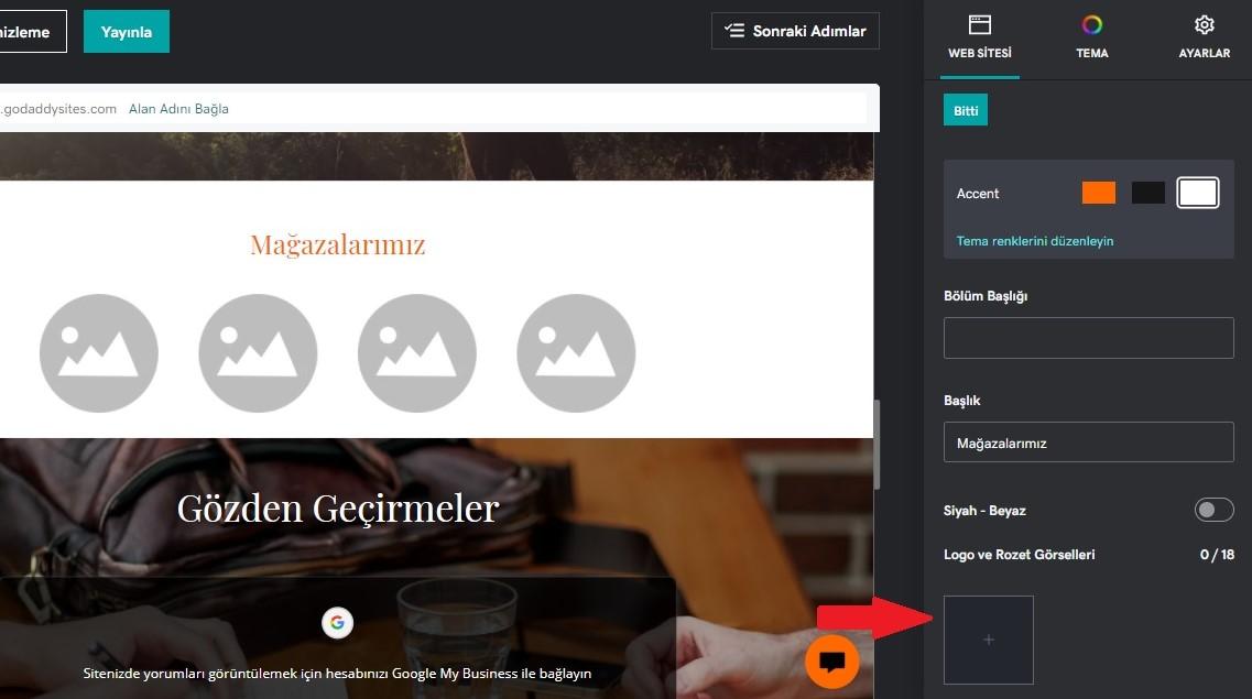 pazaryeri entegrasyonu logo görseli ekleme