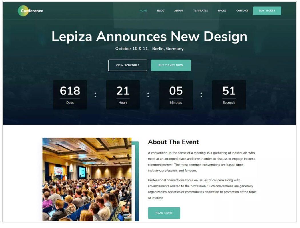 ücretsiz WordPress temaları conference teması