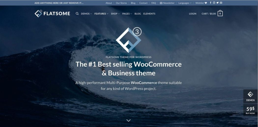 ücretsiz WordPress temaları flatsome teması