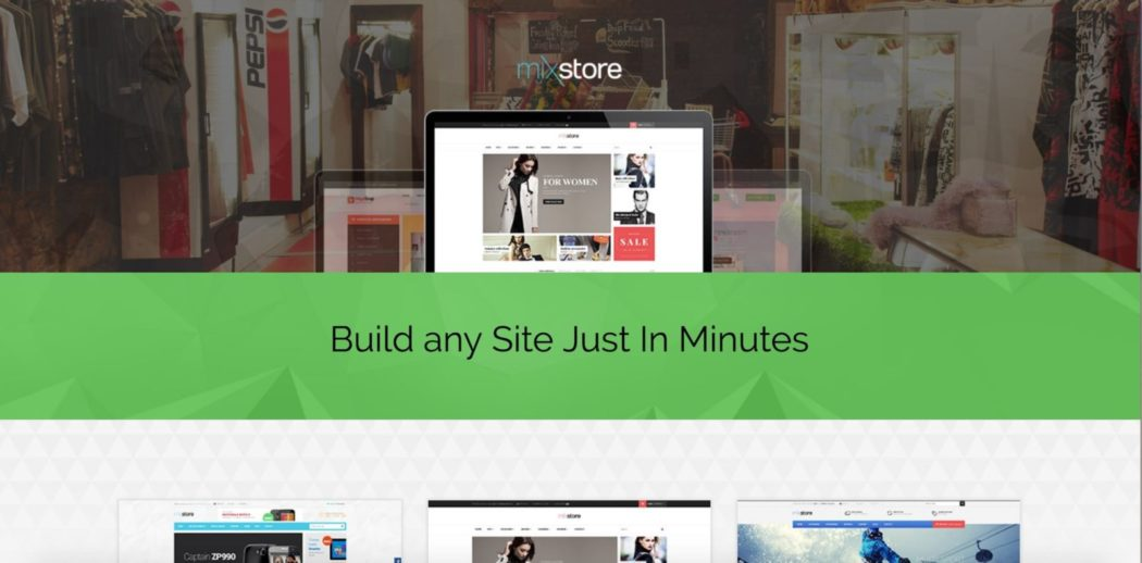ücretsiz WordPress temaları mix store teması