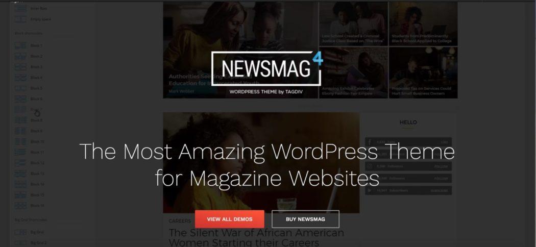 ücretsiz WordPress temaları Newsmag teması