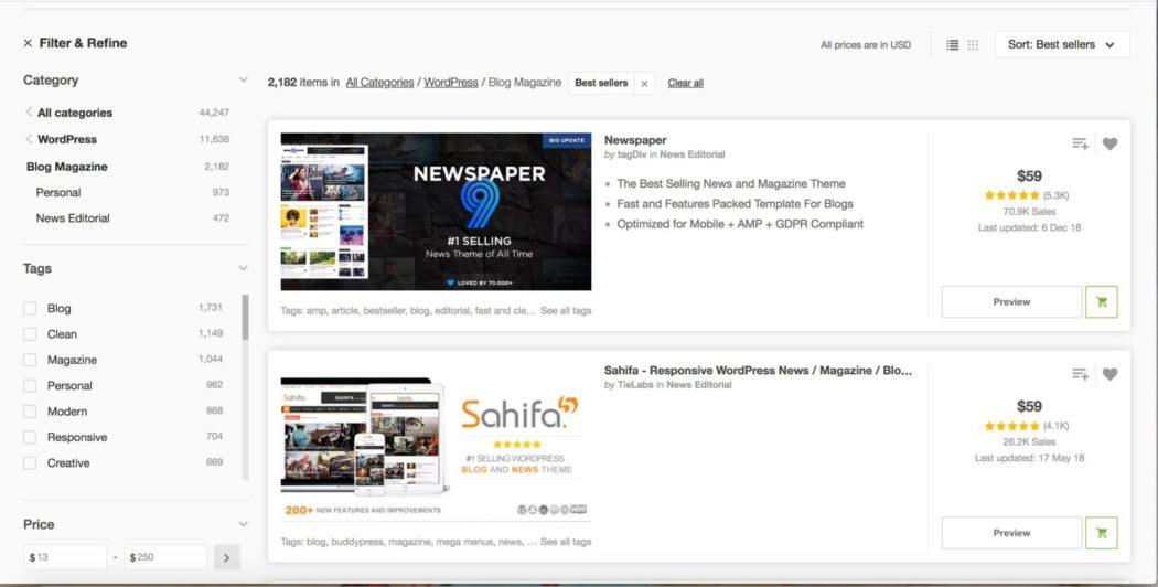ücretsiz WordPress temaları newspaper teması