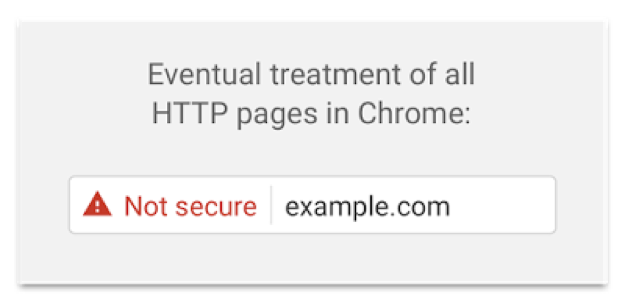 web güvenliği Chrome ikaz