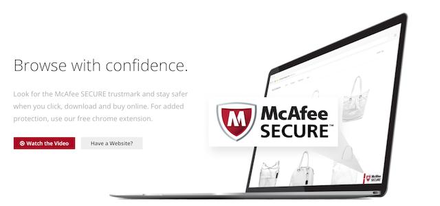 web sitesi güvenliği mcafee