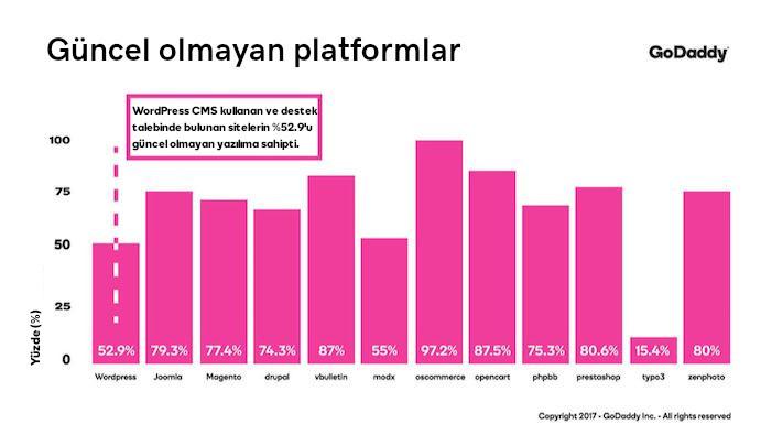 web sitesi güvenlik güncel olmayan platformlar grafik