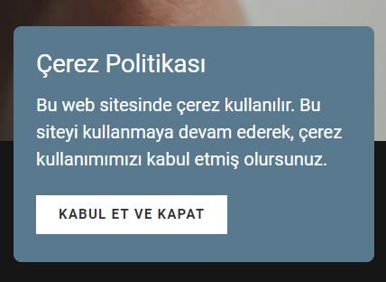 web sitesi mimarı çerez politikası