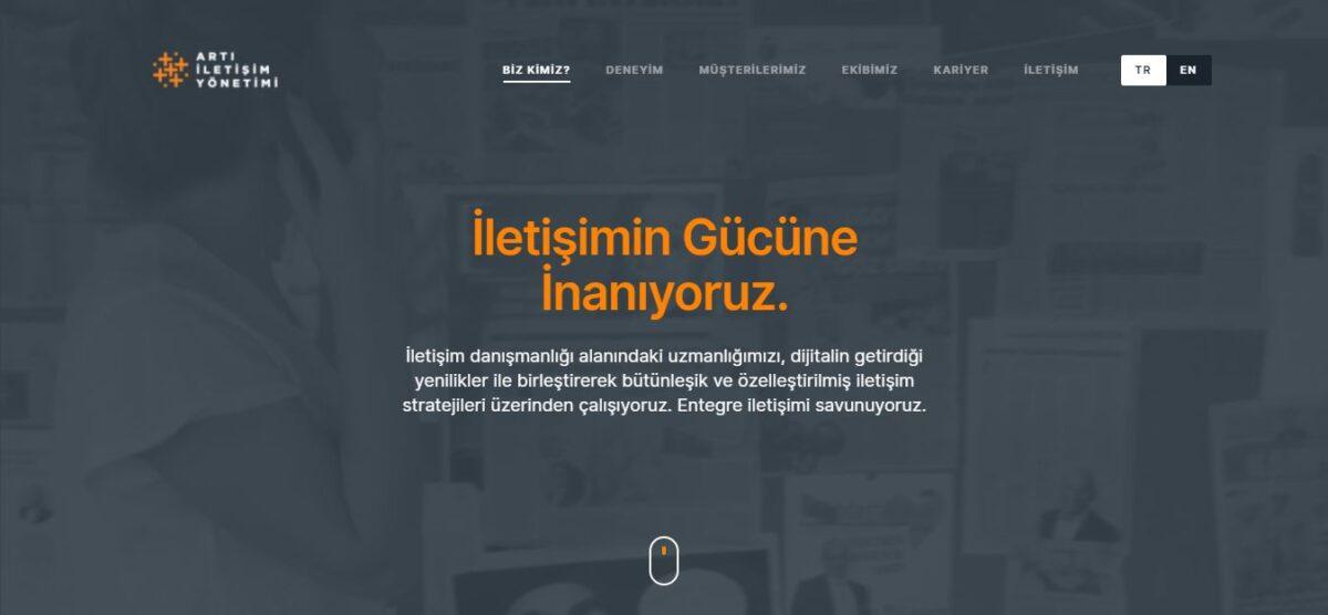 web sitesi artı iletişim yönetimi
