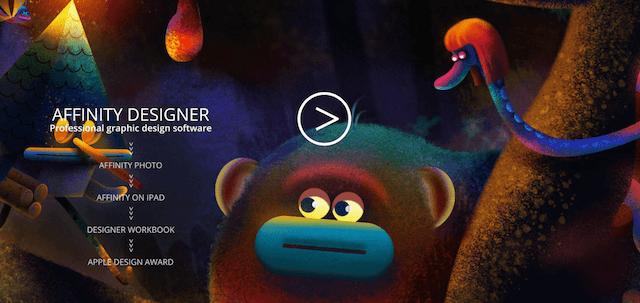 web tasarım affinity designer