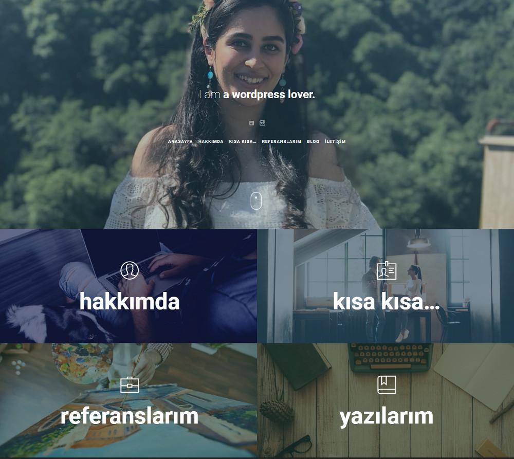 web tasarım web geliştirici esra bozbay korkmaz wordpress web sitesi anasayfa