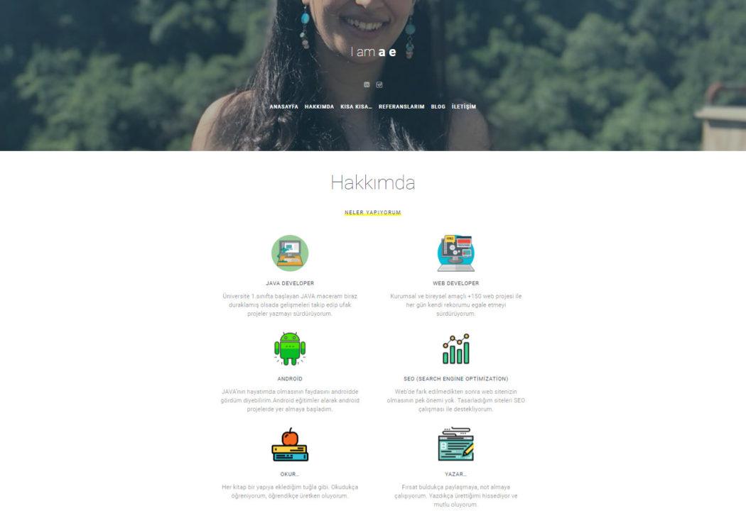 web tasarım web geliştirici esra bozbay korkmaz wordpress web sitesi hakkımda