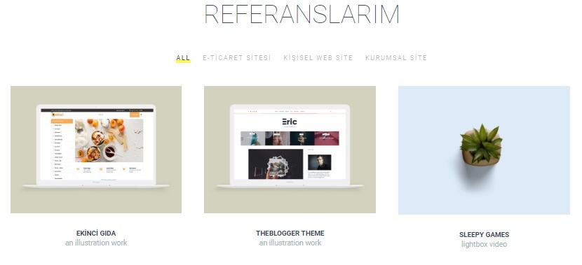 web tasarım web geliştirici esra bozbay korkmaz wordpress web sitesi referanslar