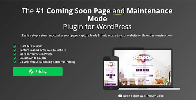 wordpress eklentileri Coming Soon Page & Maintenance Mode by SeedProd