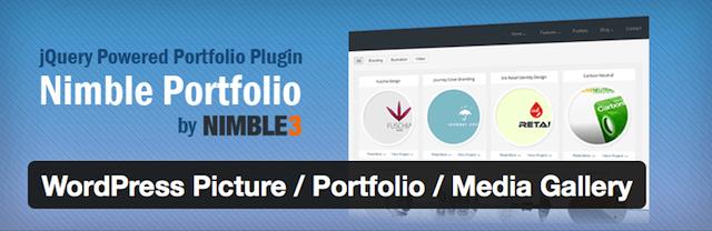 WordPress portfolyo eklentisi Nimble Portfolio