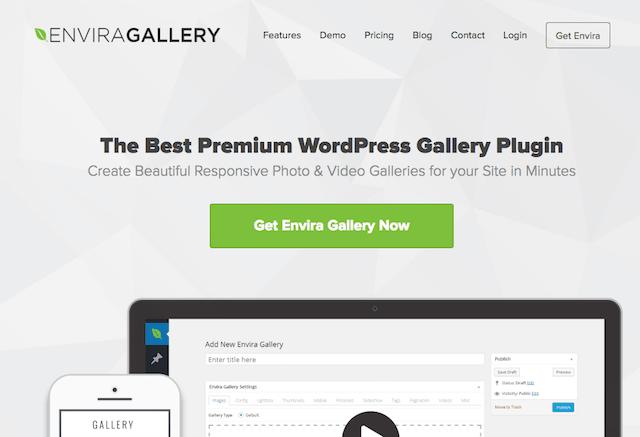 WordPress portföy eklentisi Envira Gallery
